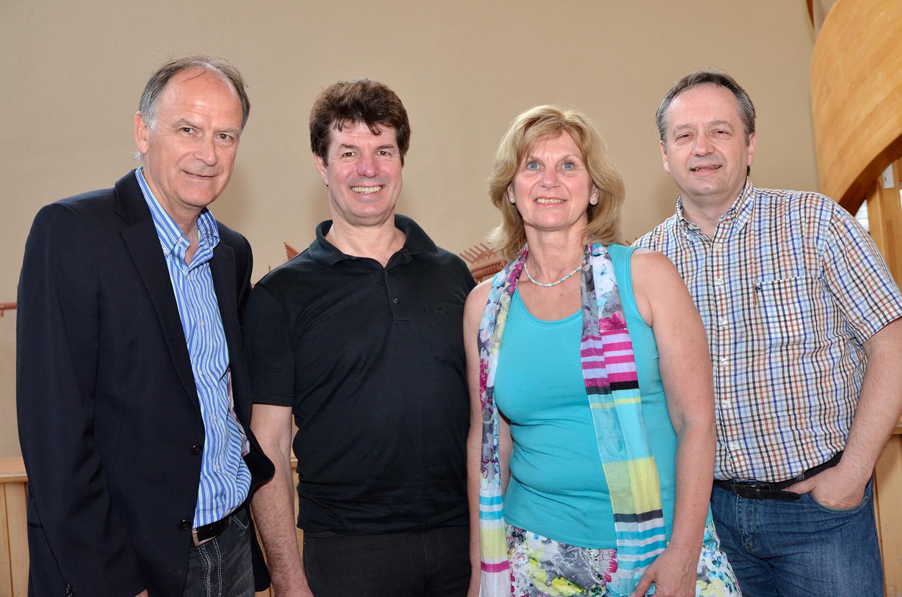 Ernst Thurner, Gerald Tiefling, Andrea Jäger und Andreas Rauch (von links)